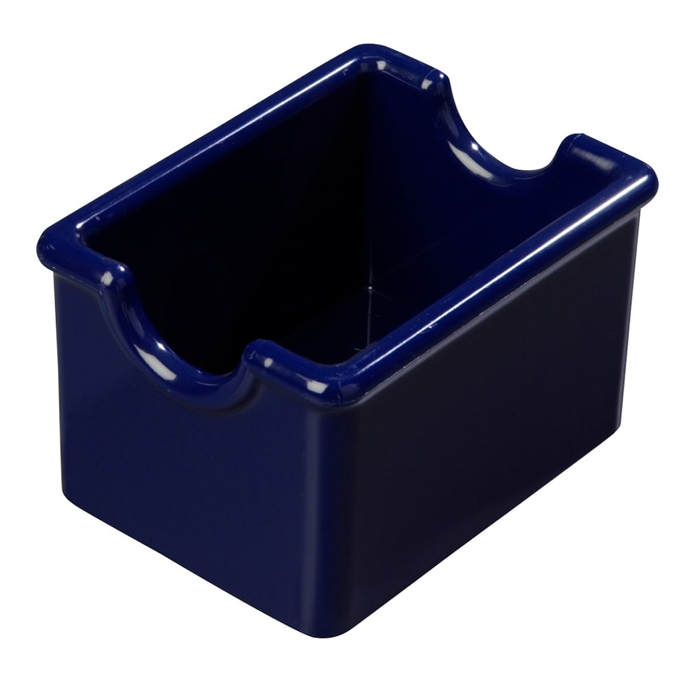 Carlisle 455060 Sugar Caddy w/ (20) Packet Capacity, Plastic, Cobalt Blue