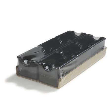Carlisle 4550-803 Sugar Packet Caddy - (6/Pk) 20-Packet Capacity, Styrene, Black