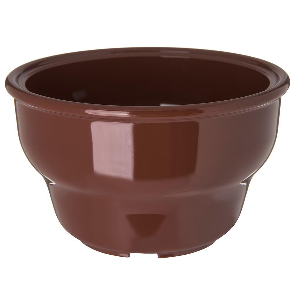 "Carlisle 455328 4.125"" Round Salsa Bowl w/ 8-oz Capacity, Melamine, Lenox Brown"