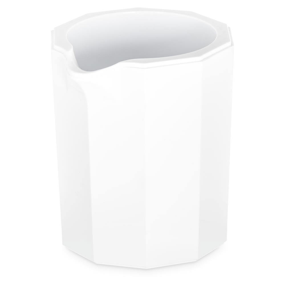 "Carlisle 456002 2"" Round Creamer/Syrup Pitcher w/ 2 oz Capacity, Plastic, White"