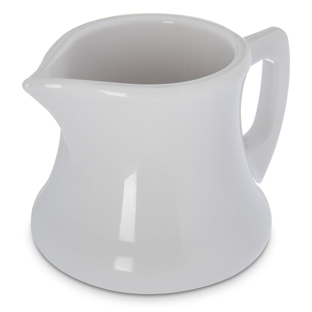 "Carlisle 456302 2.56"" Round Creamer Pitcher w/ 3-oz Capacity, Plastic, White"