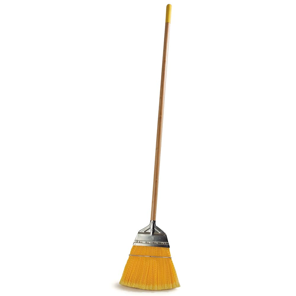 "Carlisle 4564304 55""L Lobby Broom w/ Straight Corn Bristles & Natural Handle"