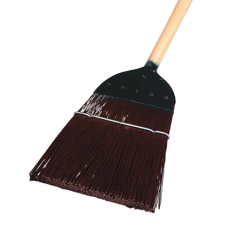 "Carlisle 4564901 54""L Sparta® Lobby Broom w/ Straight Corn Bristles & Natural Handle"