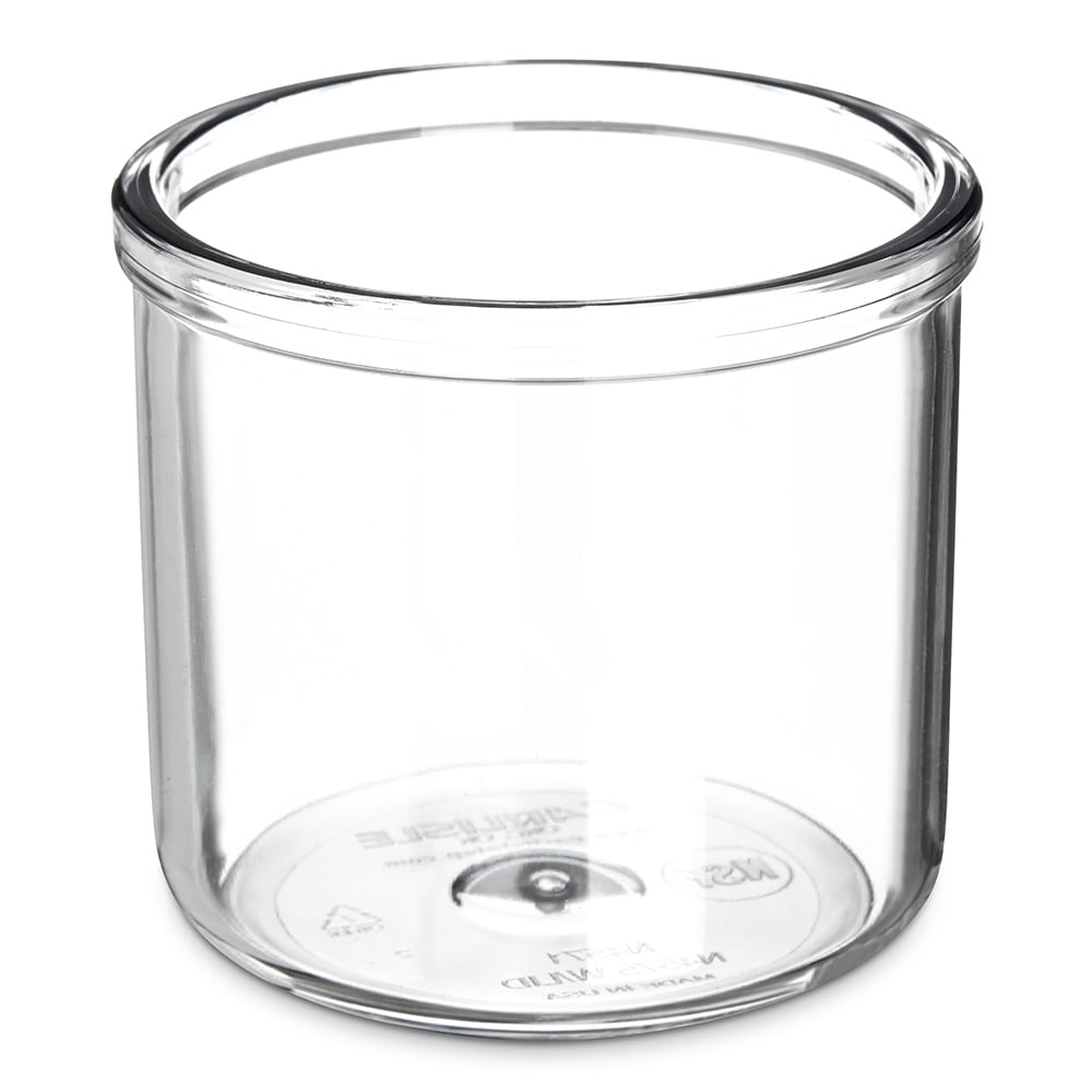 Carlisle 457107 Condiment J-Jar, 8 oz., Plastic, Clear, Lid Sold Separately, NSF