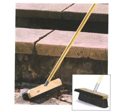 """Carlisle 4575703 13"""" Stadium Broom - Dual Angle Bristles, Black"""