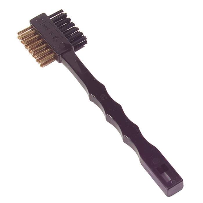"Carlisle 4579600 7.25"" Double-Sided Tooth Brush w/ Brass Wire Bristles"