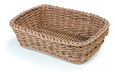 Carlisle 4920125 Duraweave 11.5x8.5x2.75 in Rectangular Basket, Beige