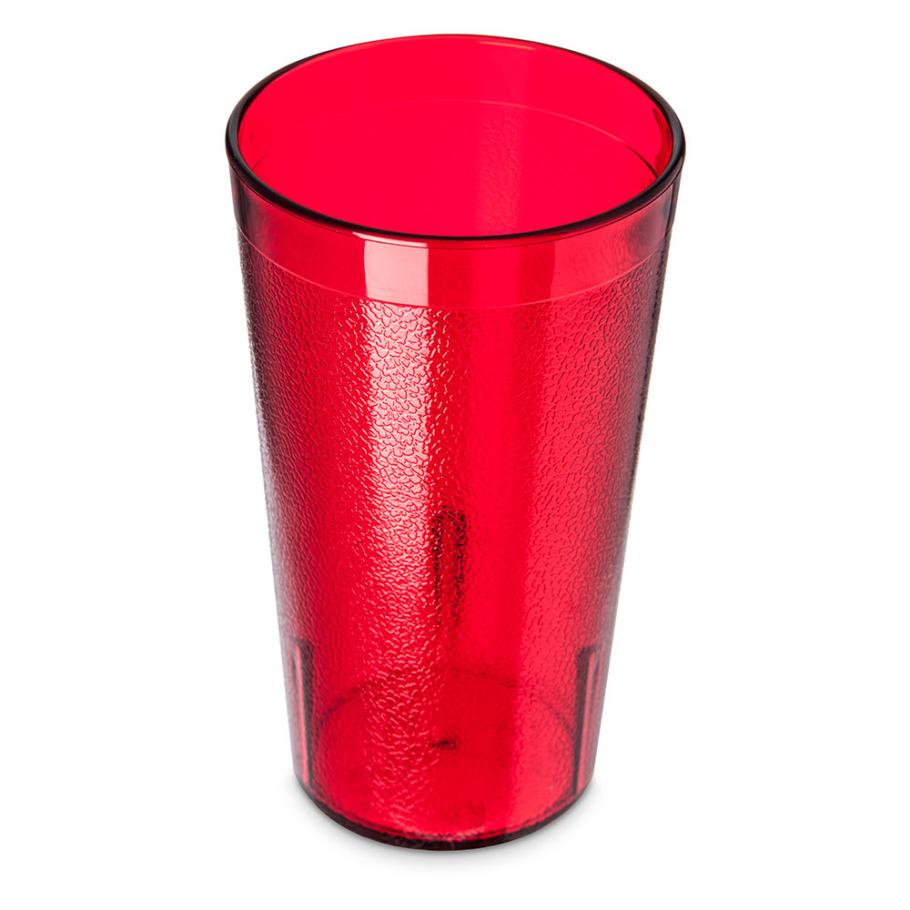 Carlisle 521210 12 oz Stackable Tumbler - Polycarbonate, Ruby