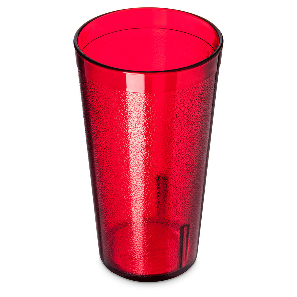 Carlisle 521610 16 oz Stackable Tumbler w/ Textured Exterior, Ruby