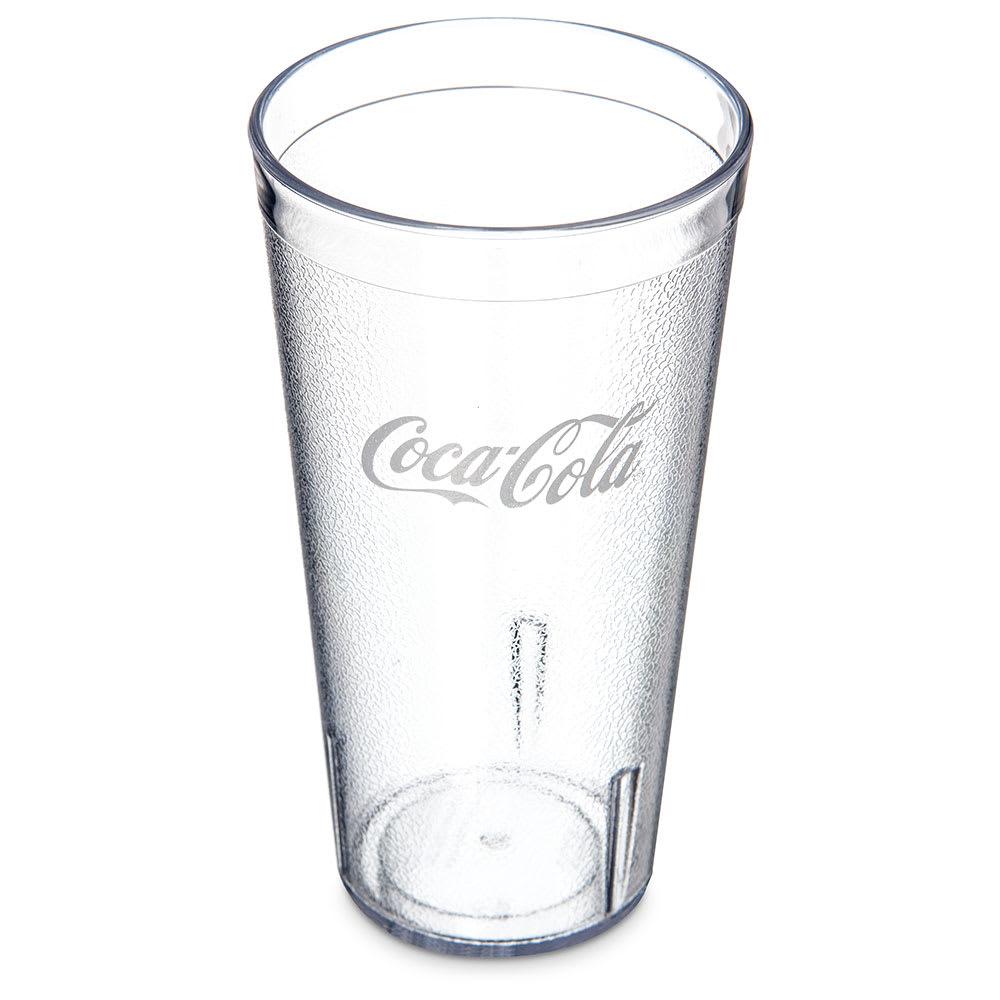 Carlisle 52203550A 20 oz Coca-Cola Stackable Tumbler - Plastic, Clear