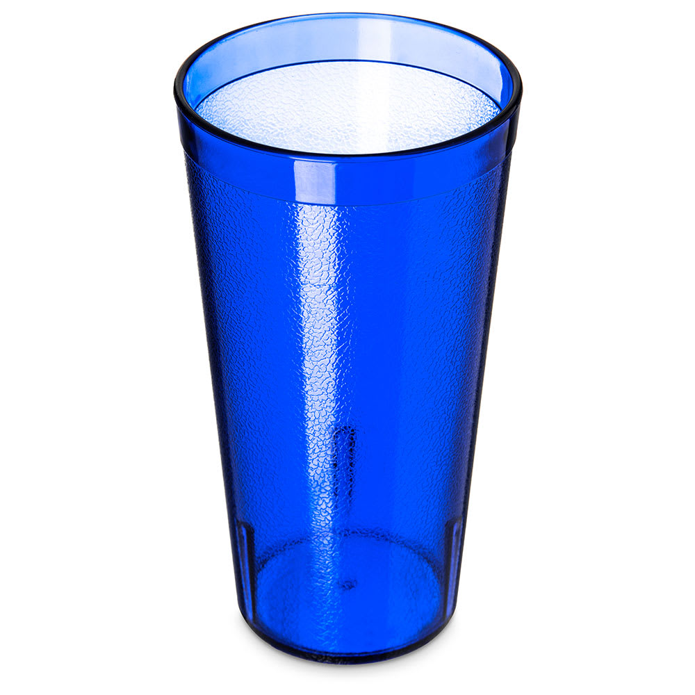 Carlisle 522047 20 oz Stackable Tumbler - Plastic, Royal Blue