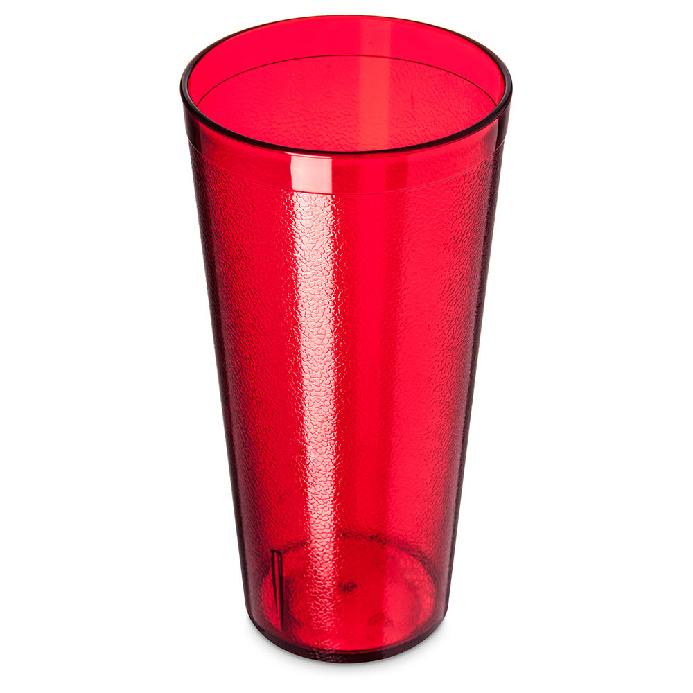 Carlisle 522410 24-oz Stackable Tumbler - Plastic, Ruby