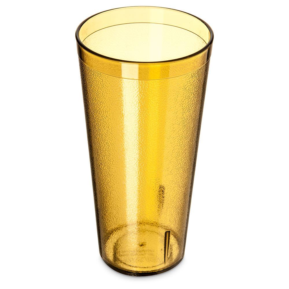 Carlisle 522413 24-oz Stackable Tumbler - Plastic, Amber