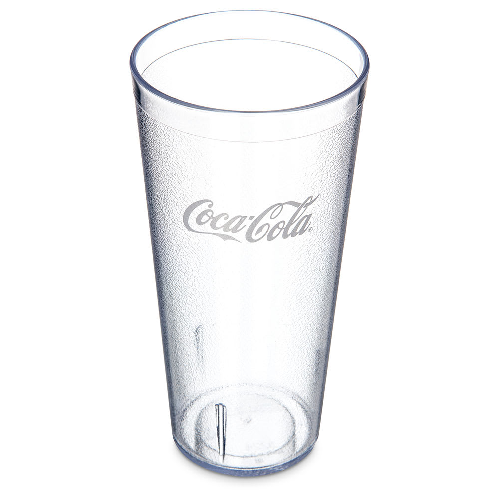 Carlisle 52243550G 24 oz Coca-Cola Stackable Tumbler - Plastic, Clear