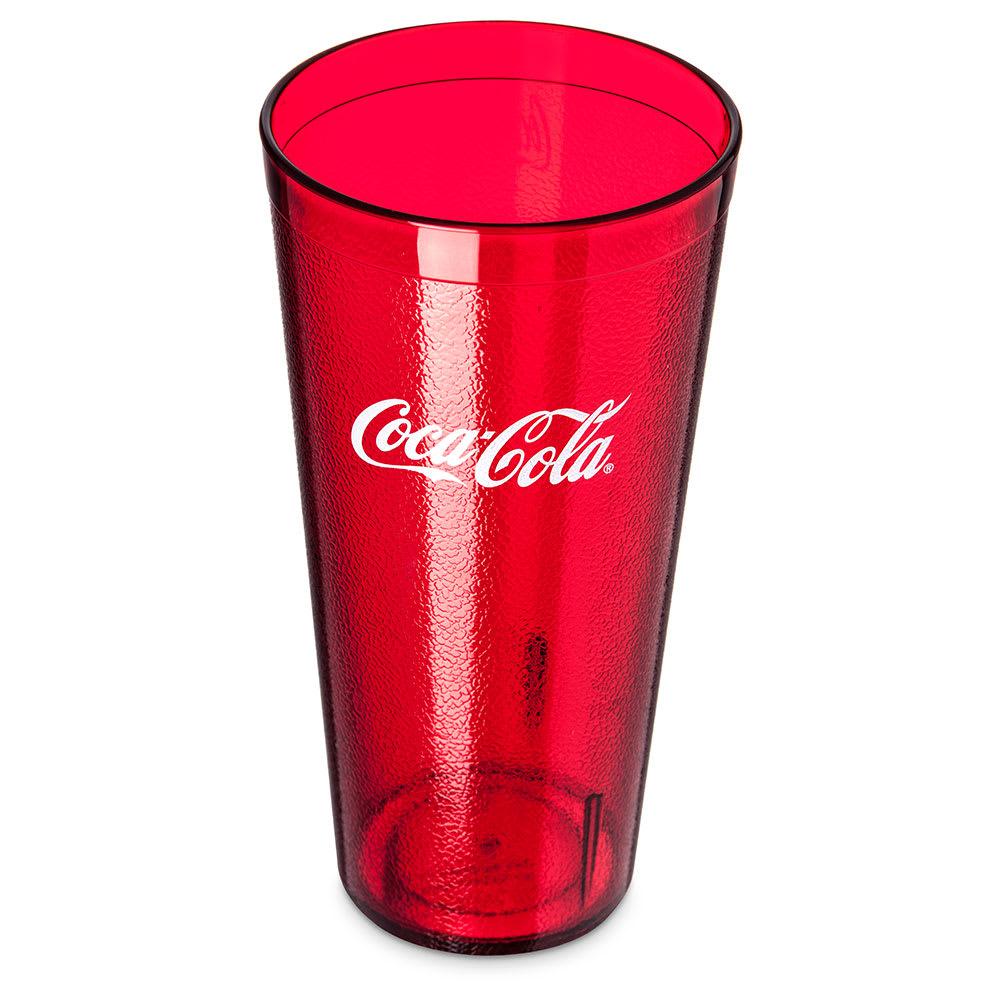 Carlisle 5232-63550I 32-oz Coca-Cola Stackable Tumbler - Plastic, Ruby