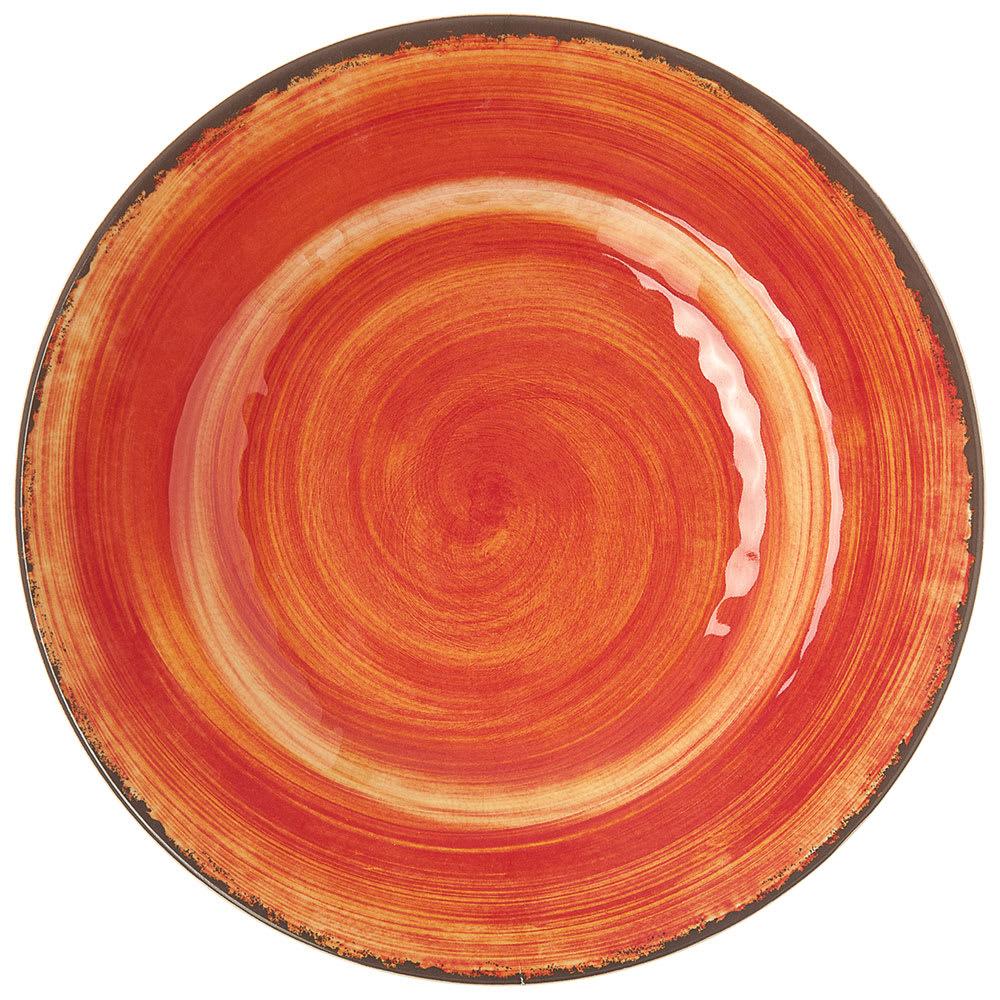 "Carlisle 5400252 9"" Round Dinner Plate - Melamine, Fireball"