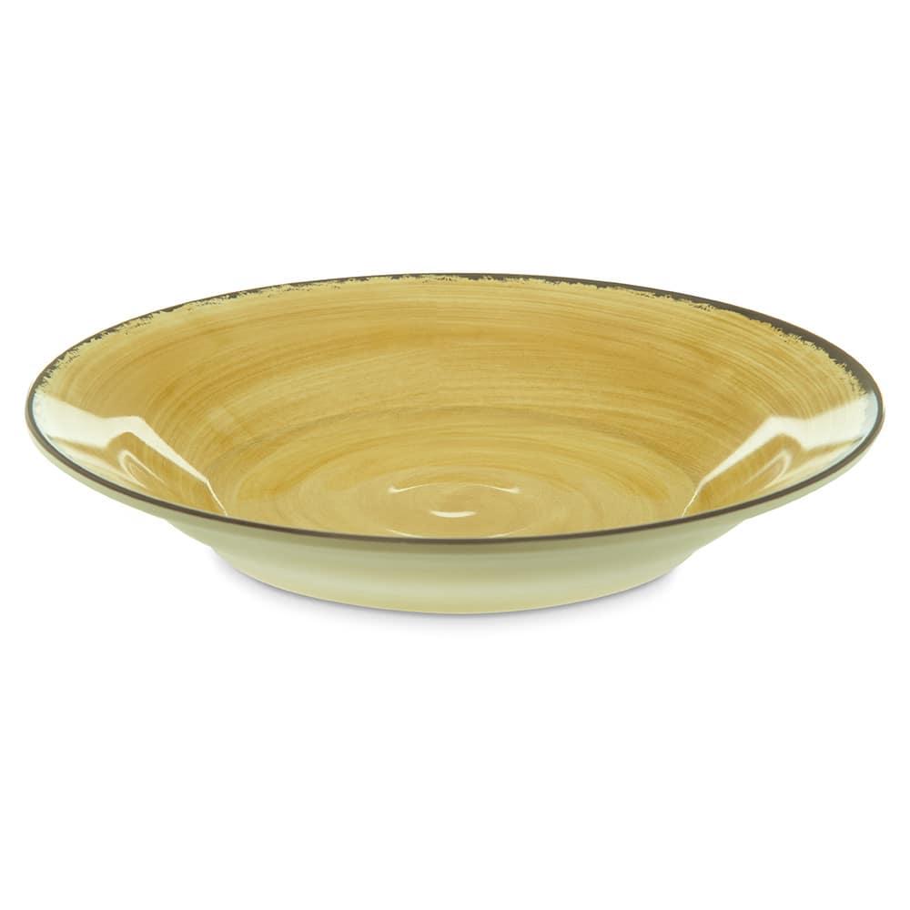 """Carlisle 5400313 9"""" Round Soup Bowl w/ 28.5 oz Capacity, Melamine, Amber"""