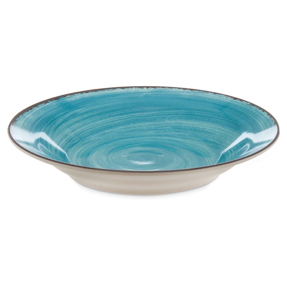 """Carlisle 5400315 9"""" Round Soup Bowl w/ 28.5-oz Capacity, Melamine, Aqua"""