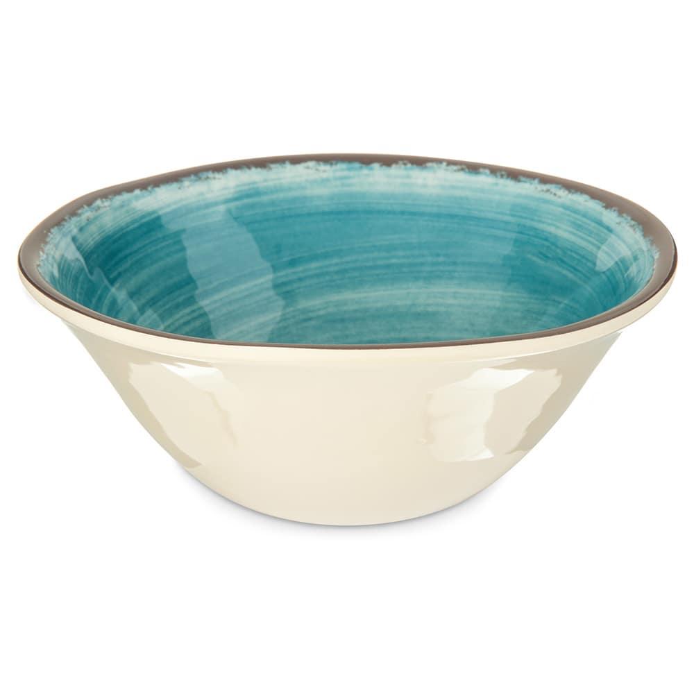 "Carlisle 5400415 7"" Round Ice Cream Bowl w/ 27-oz Capacity, Melamine, Aqua"