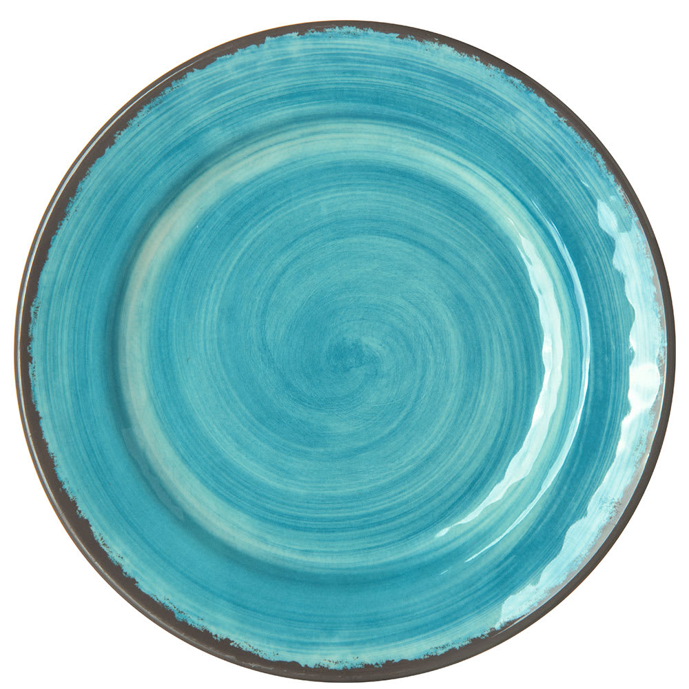 "Carlisle 5400715 7"" Round Bread & Butter Plate, Melamine, Aqua"