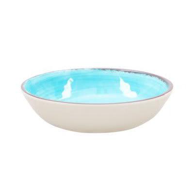 "Carlisle 5401315 12"" Round Serving Bowl w/ 4.8-qt Capacity, Melamine, Aqua"