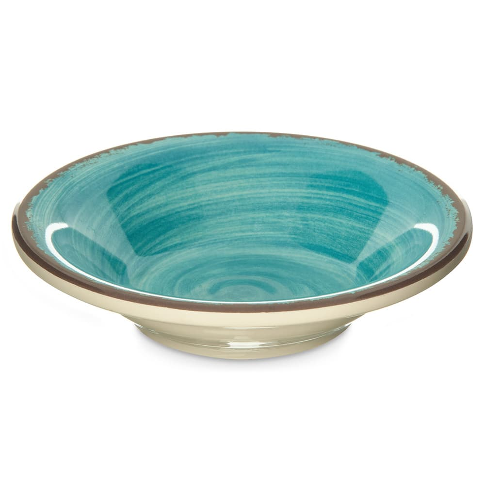 "Carlisle 5401815 5"" Round Fruit Bowl w/ 4.5-oz Capacity, Melamine, Aqua"