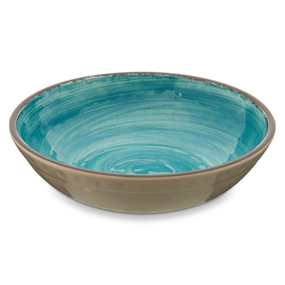 "Carlisle 5401915 8"" Round Cereal Bowl w/ 35.5 oz Capacity, Melamine, Aqua"