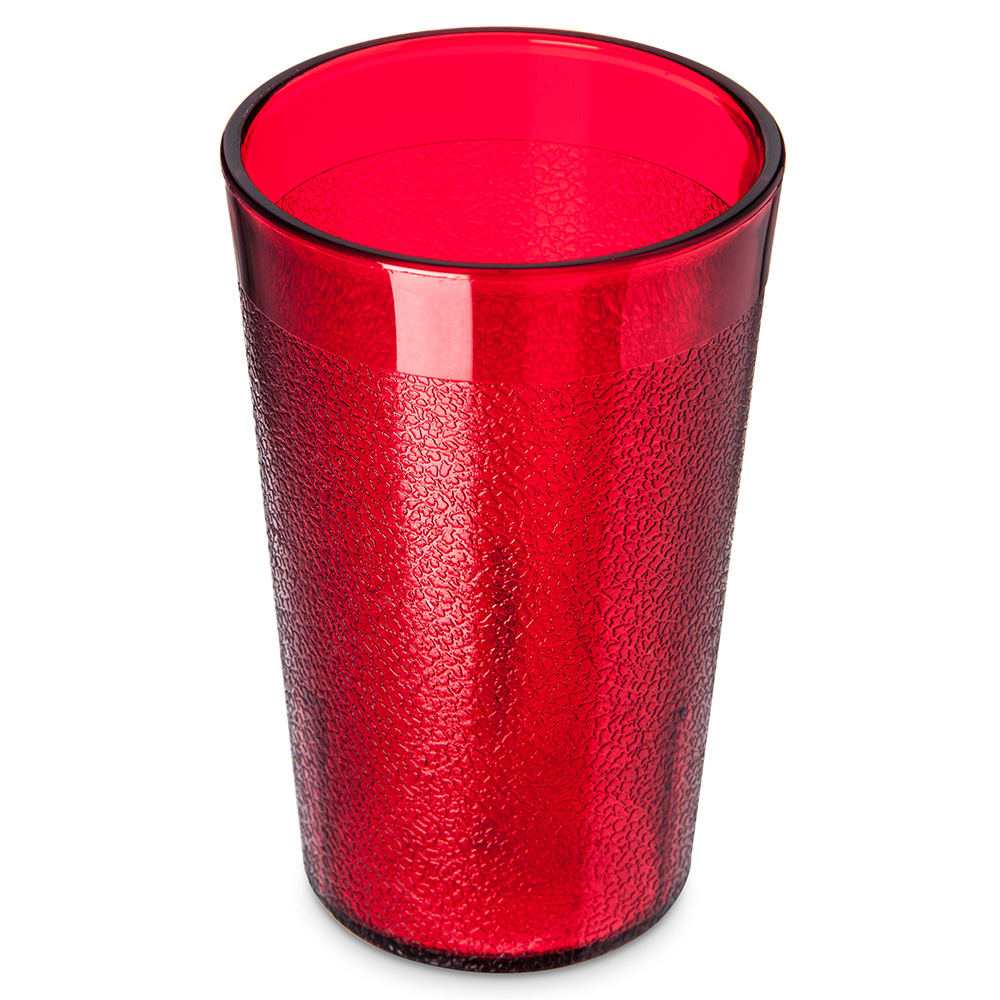 Carlisle 550610 Stackable Tumbler, 9.5 oz., SAN, Ruby