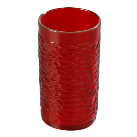 Carlisle 550910 Pebble Optic Tumbler, 9-1/2 oz., SAN, Ruby