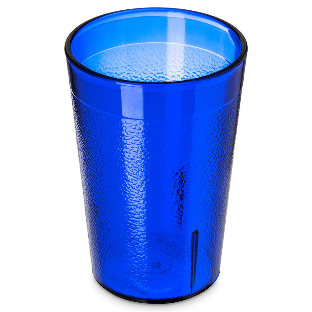 Carlisle 552647 8-oz Stackable Tumbler - Plastic, Royal Blue