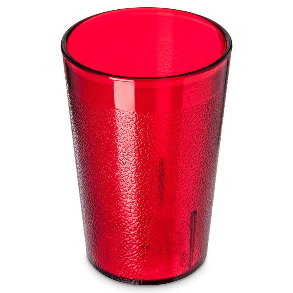 Carlisle 552610 8-oz Stackable Tumbler w/ Textured Exterior, Ruby