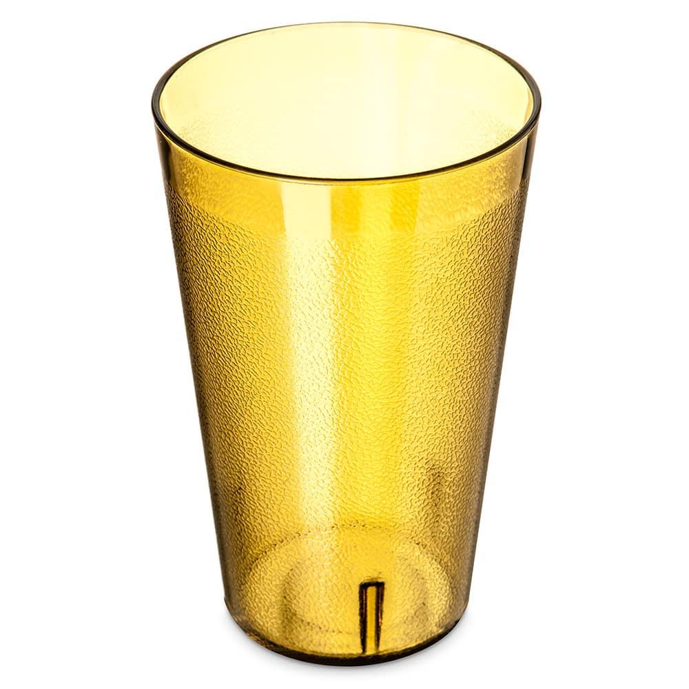 Carlisle 5532-213 32 oz Stackable Tumbler - Plastic, Amber
