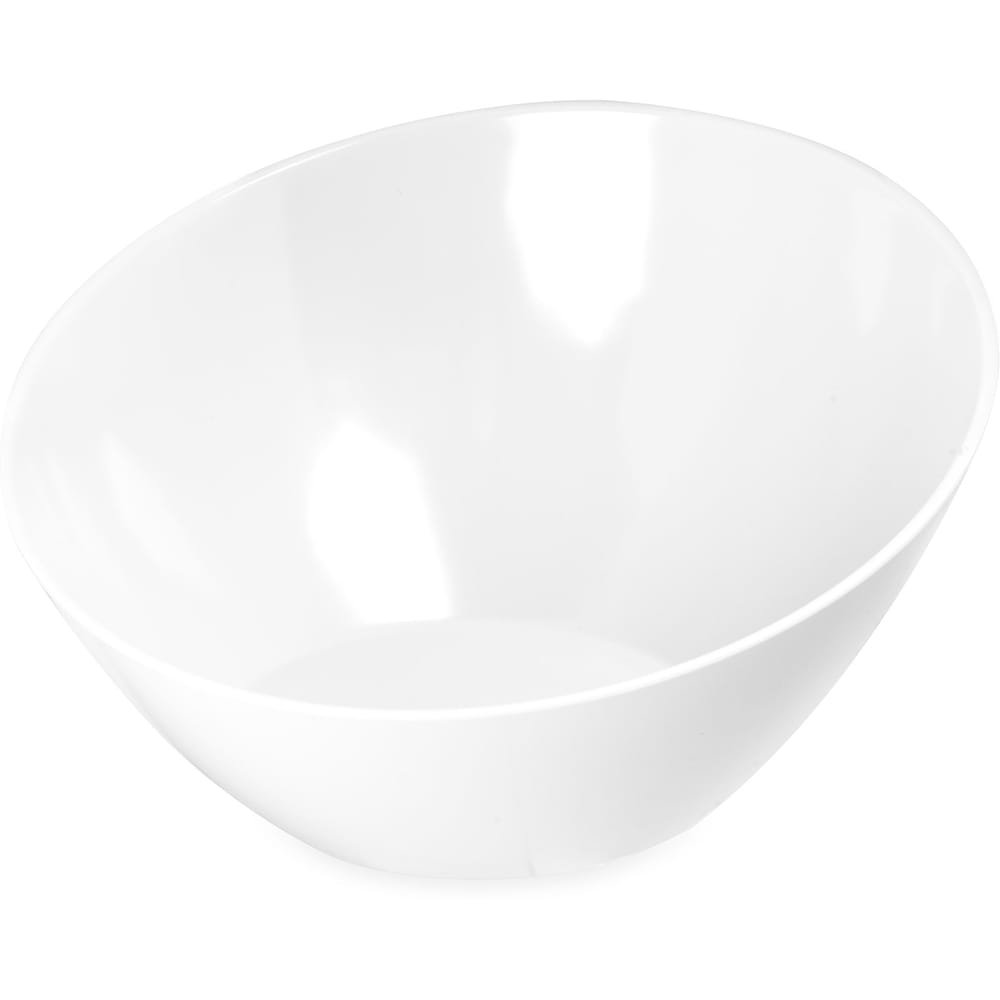 "Carlisle 5554637 12"" Round Angled Bowl w/ 96-oz Capacity, Melamine, Bavarian Cream"