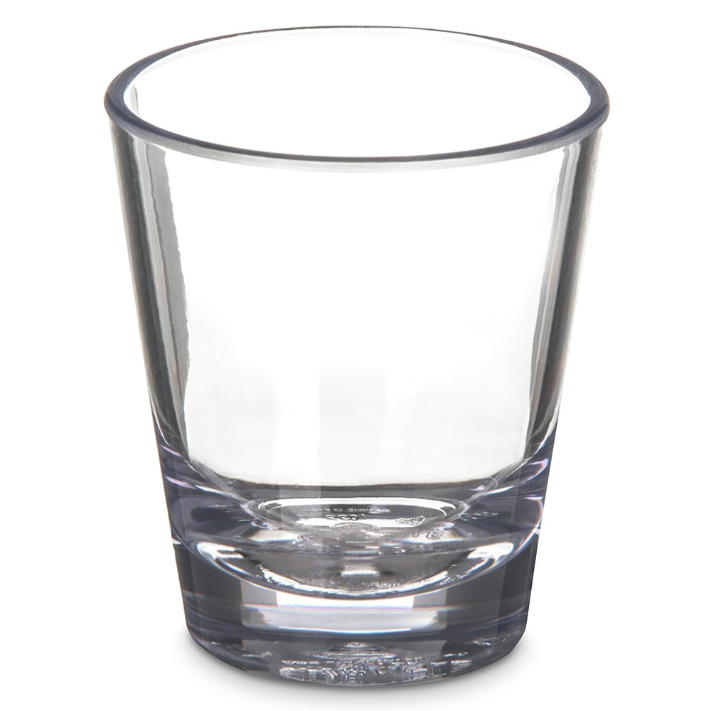 Carlisle 560107 1 1/2 oz Alibi Shot Glass - SAN Plastic, Clear