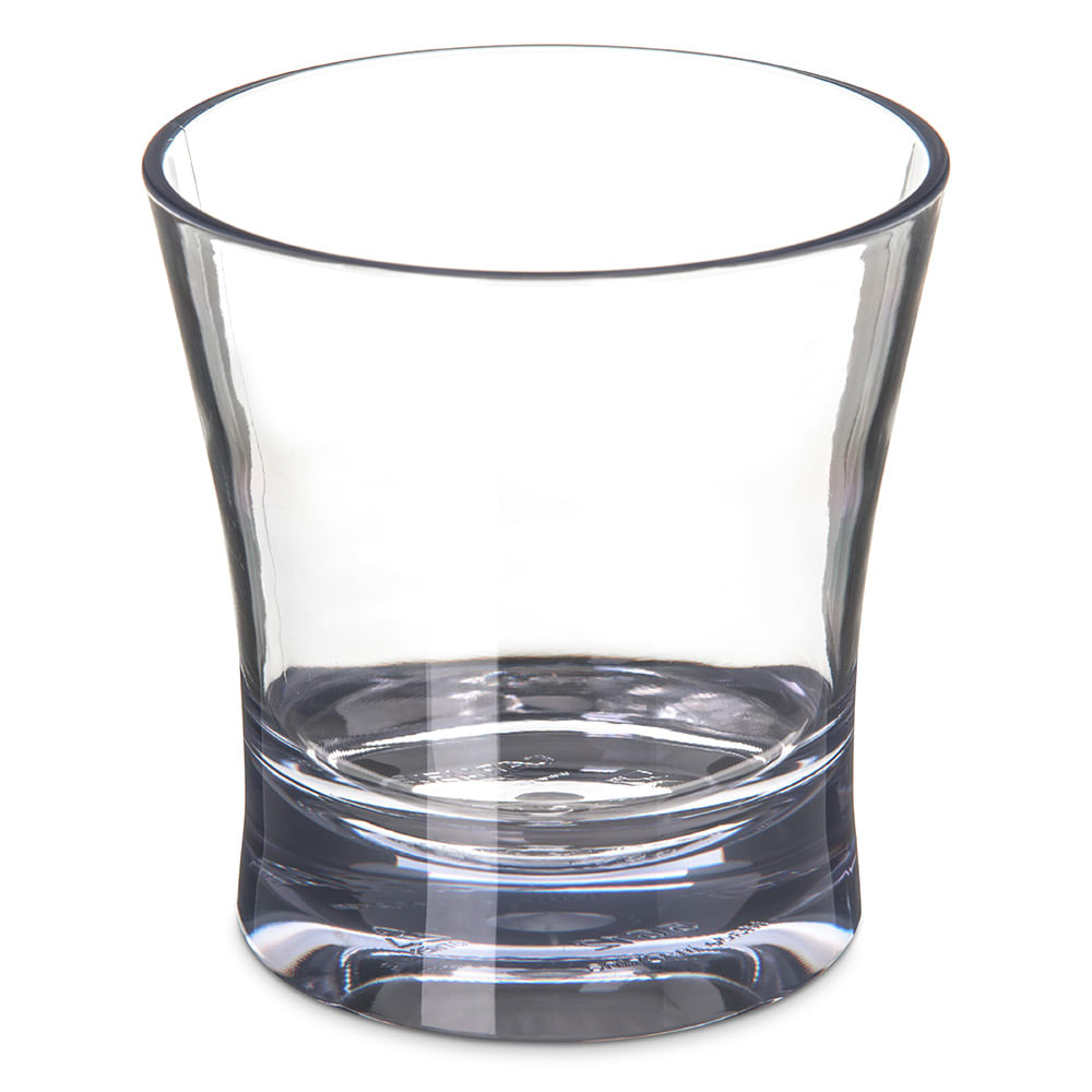 Carlisle 561207 12 oz Alibi Double Old Fashioned Glass - SAN Plastic, Clear
