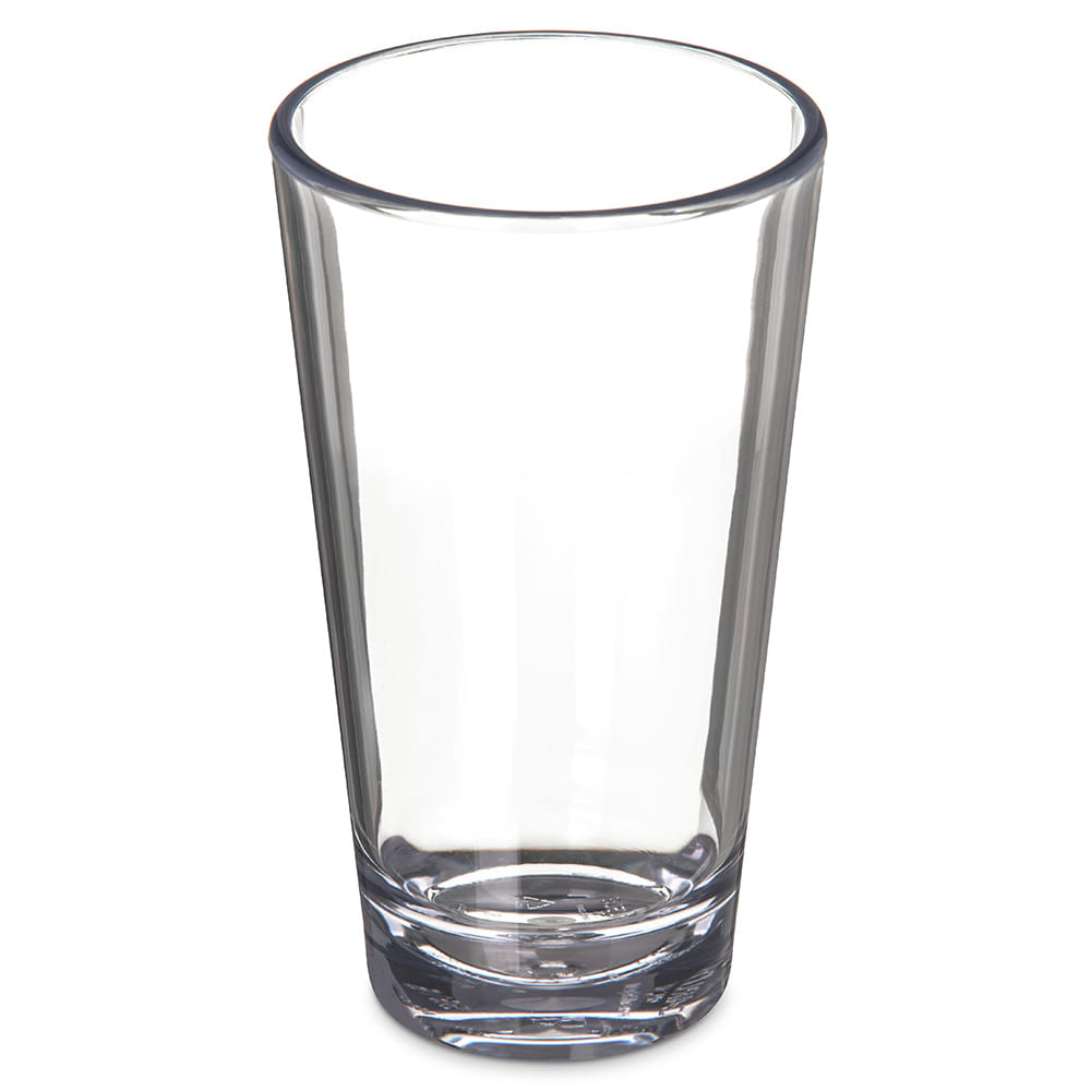 Carlisle 561607 16-oz Alibi Pint/Mixing Glass - SAN Plastic, Clear
