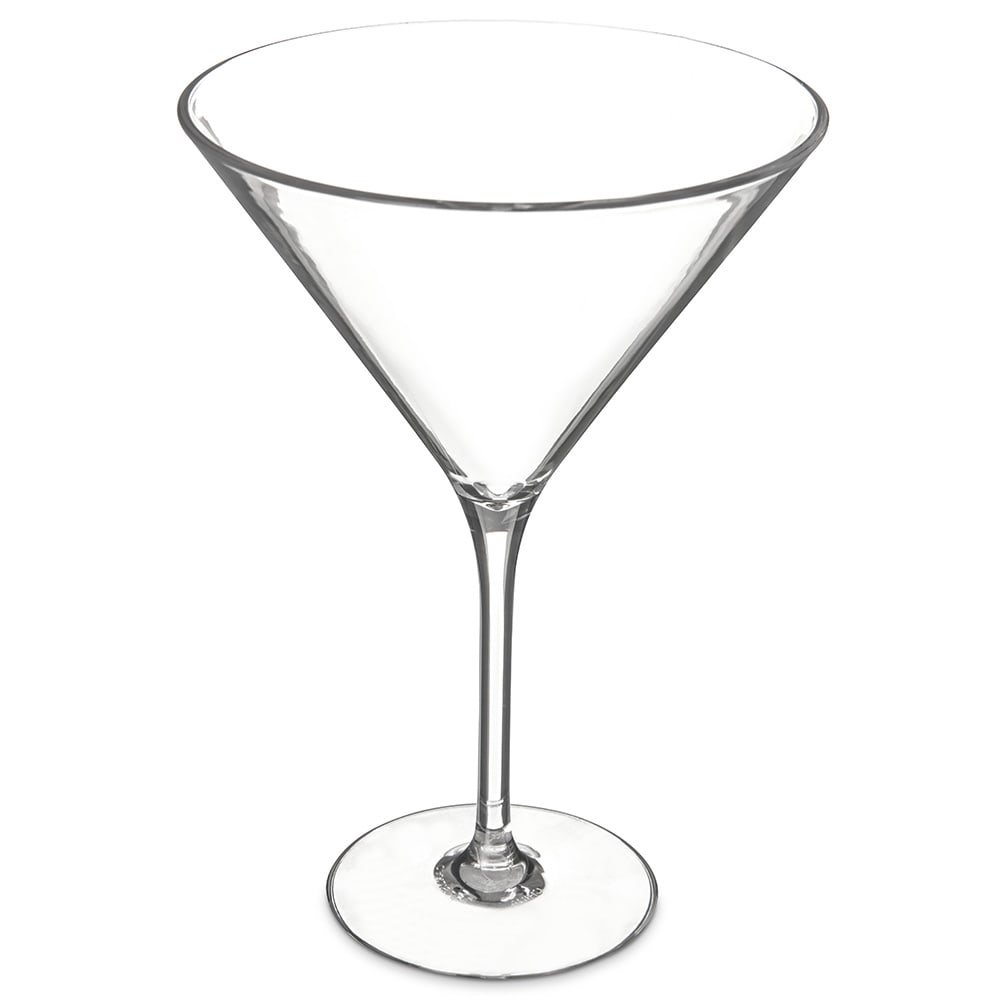 Carlisle 564607 9 oz Alibi Martini Glass - Polycarbonate, Clear