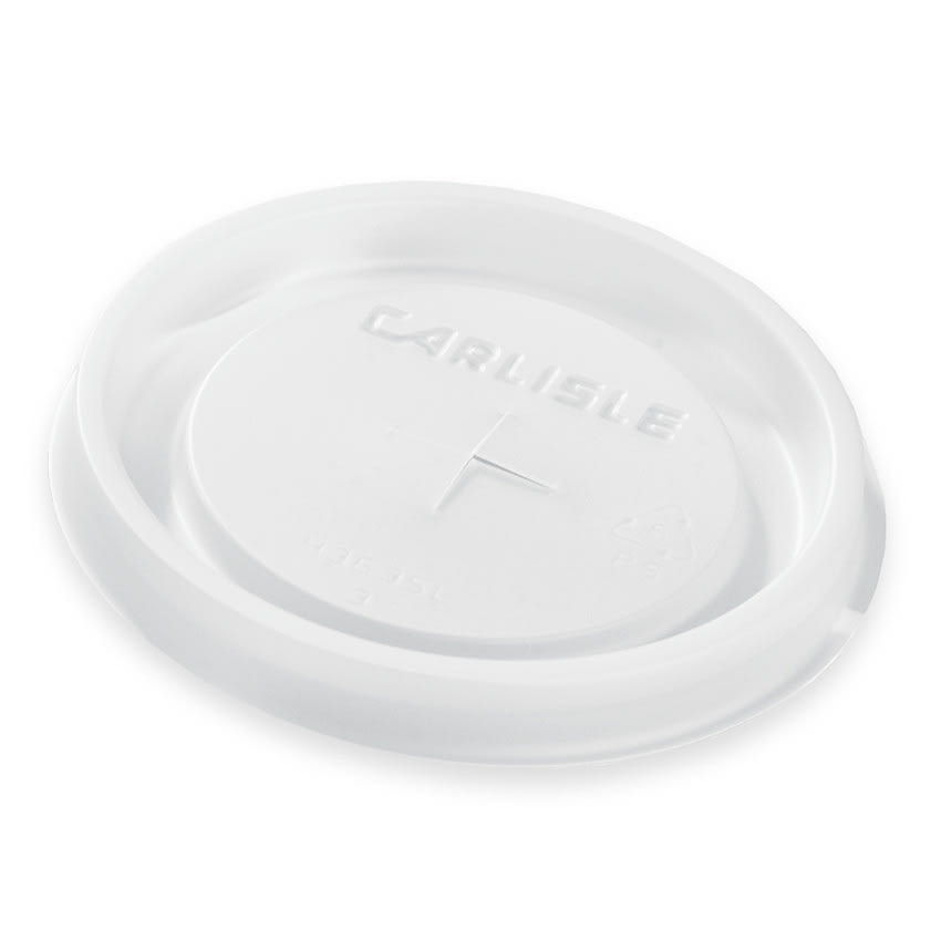 Carlisle 5810L30 10 oz Louis Tumbler Disposable Lid - Translucent