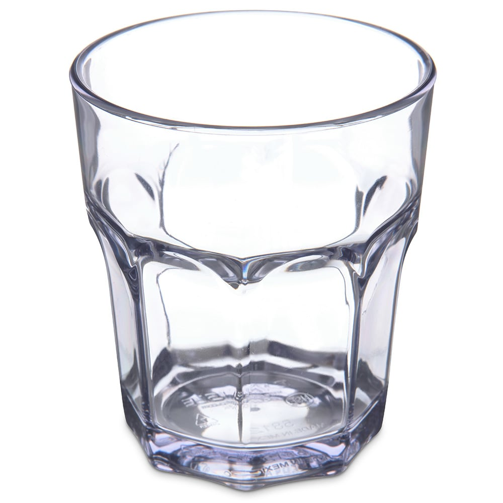 Carlisle 581207 12 oz Louis Rocks Tumbler - Clear
