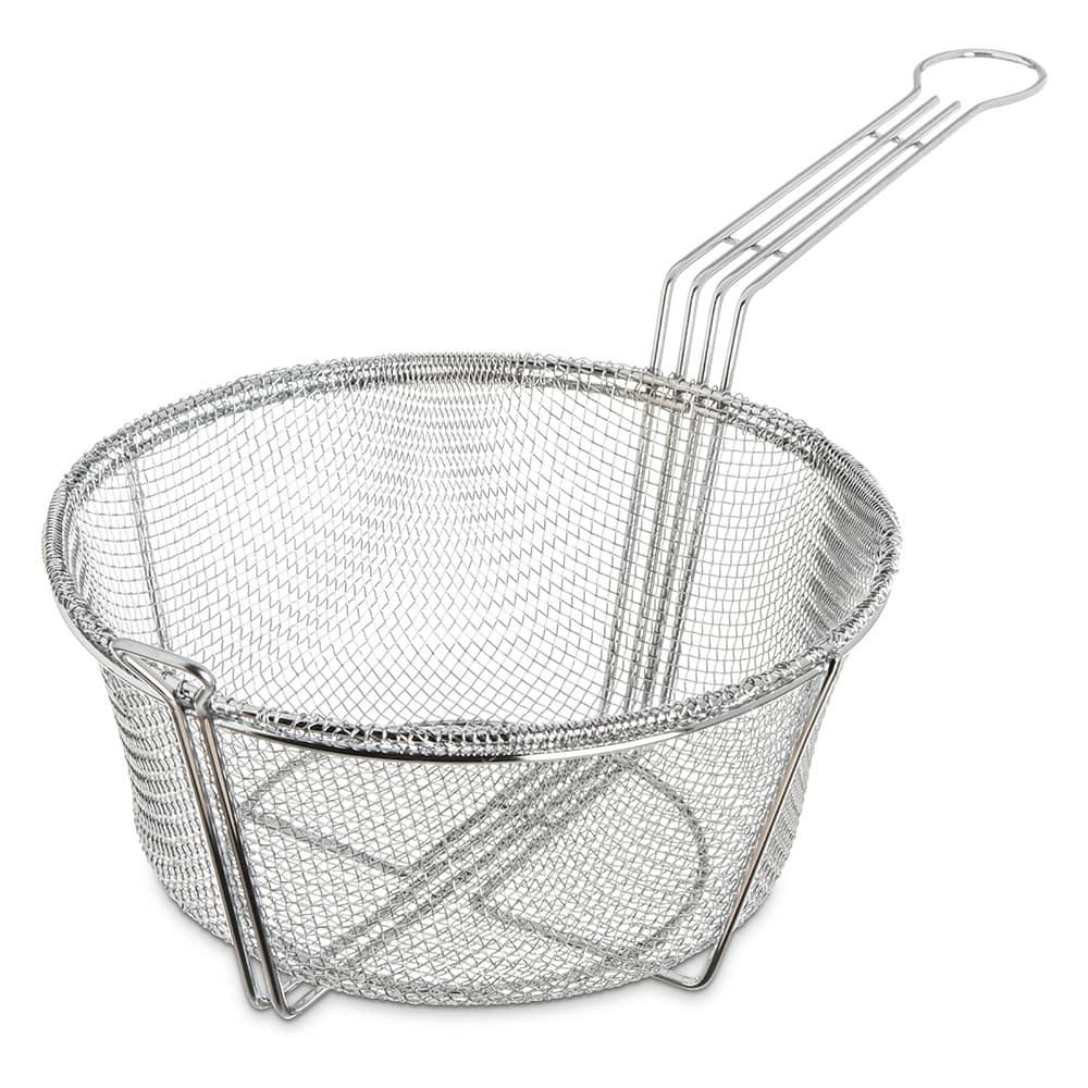 "Carlisle 601001 9.75"" Round Fryer Basket, Nickel Plated"