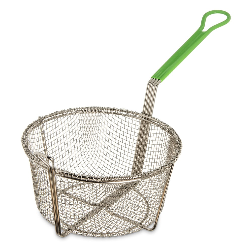 "Carlisle 601029 9.75"" Round Fryer Basket, Nickel Plated"