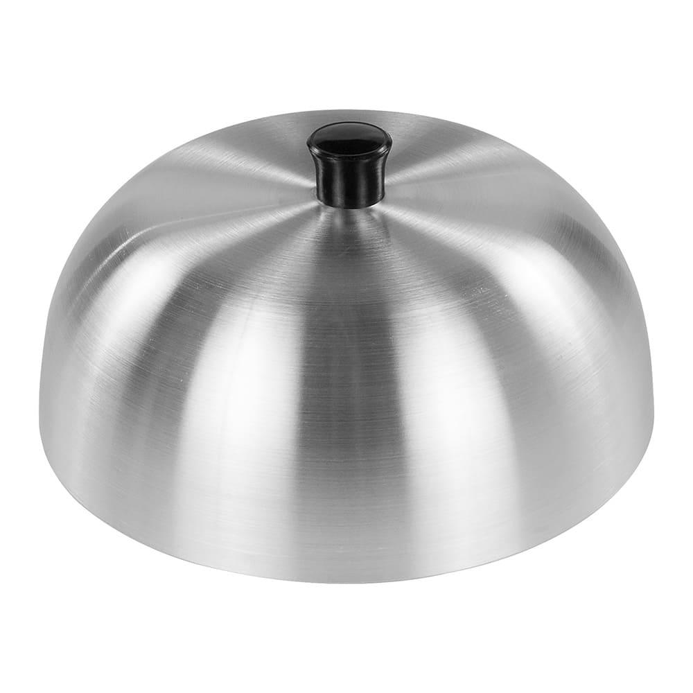 """Carlisle 60103 6"""" Round Burger Cover -  Aluminum"""