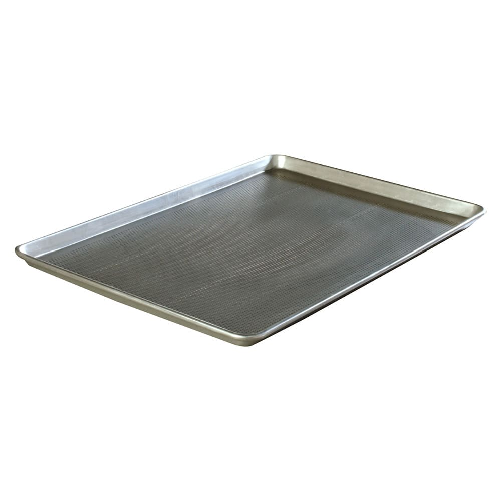 "Carlisle 601828 1/1 Size Bun / Sheet Pan - 25.75"" x 18"" x 1"", 18 gauge Aluminum, Perforated"