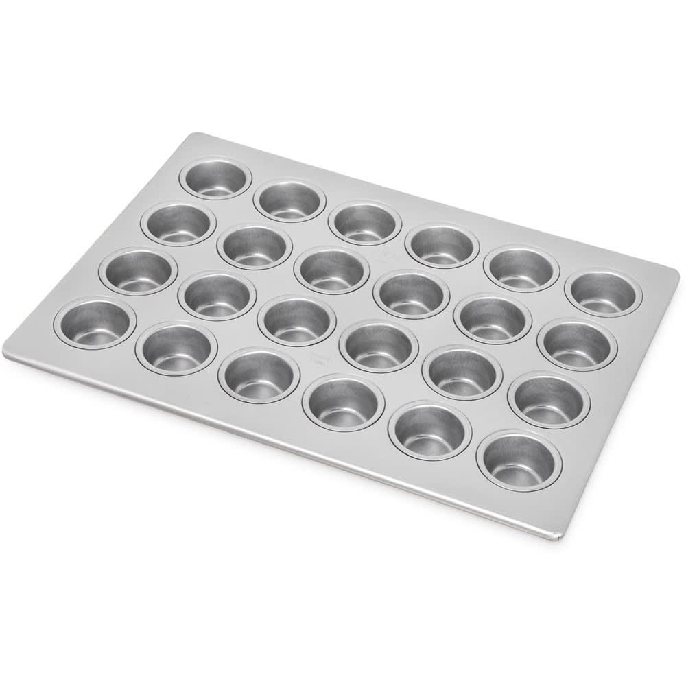 Carlisle 601829 Mini-Muffin/Cupcake Pan w/ (24) 1.75-oz Cup Capacity, Aluminized Steel