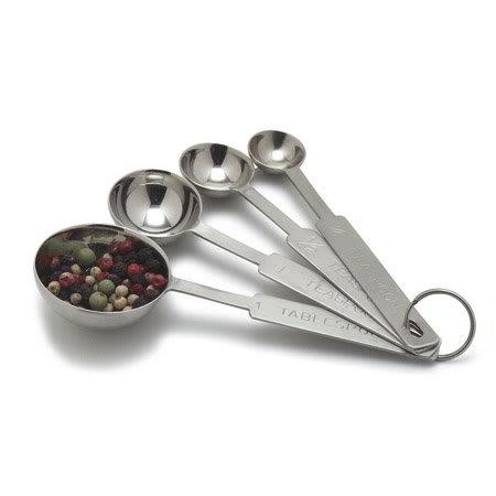 Carlisle 604300 Measuring Spoon Set w/ 1/4-tsp, 1/2-tsp, 1-tsp & 1-tbsp, Stainless