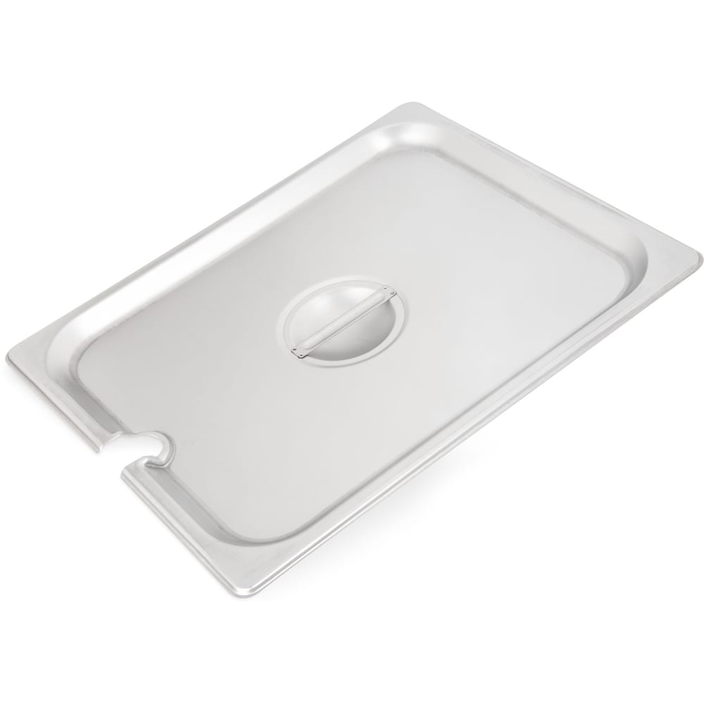Carlisle 607120CS Half-Sized Steam Pan Cover, Slotted, Stainless