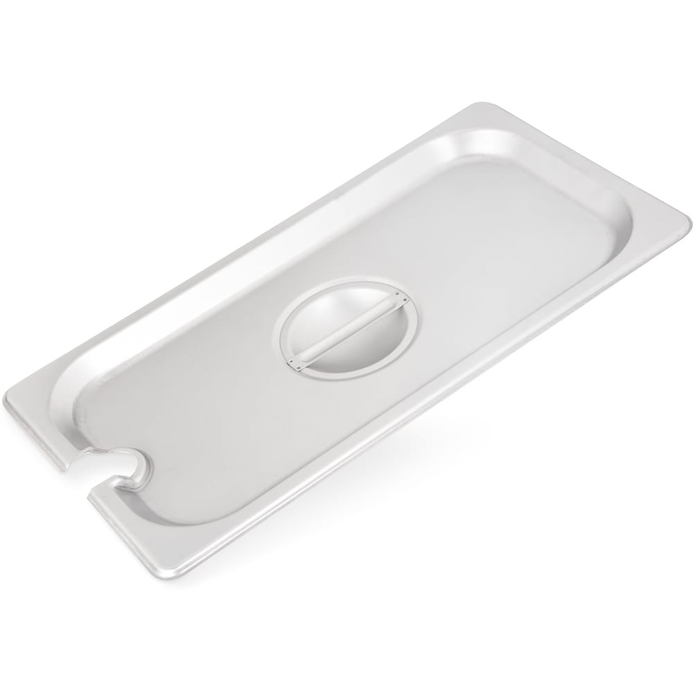 Carlisle 607130CS Third-Size Steam Pan Cover - Slotted, Stainless