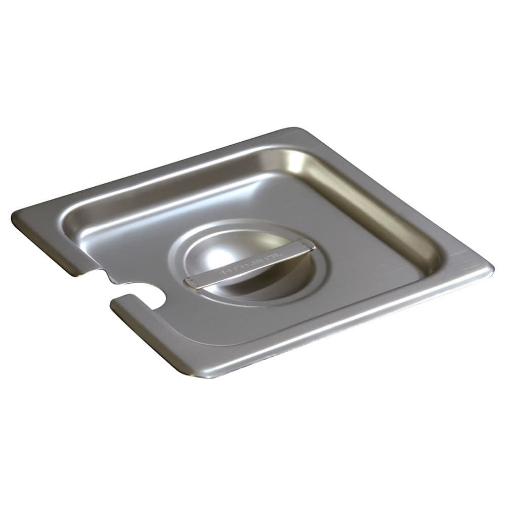 Carlisle 607160CS Sixth-Size Steam Pan Cover, Slotted, Stainless