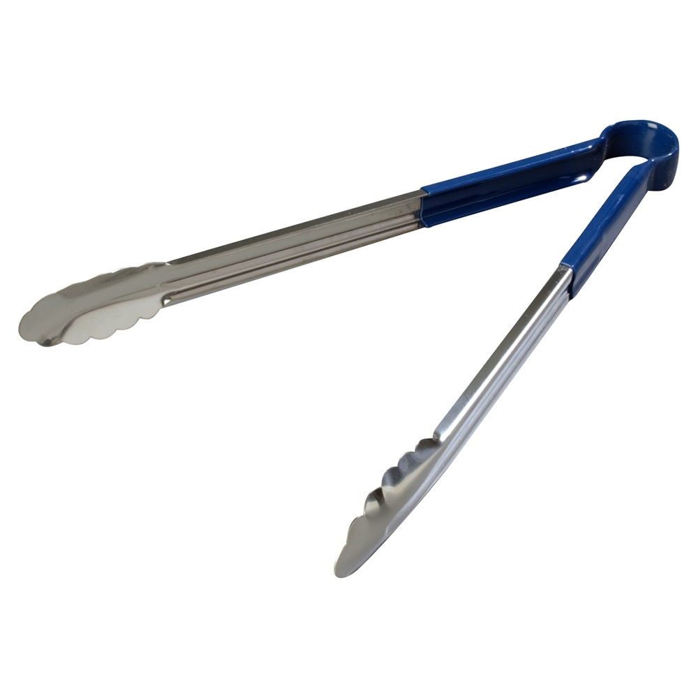 "Carlisle 60756614 16"" Stainless Utility Tongs, Blue"