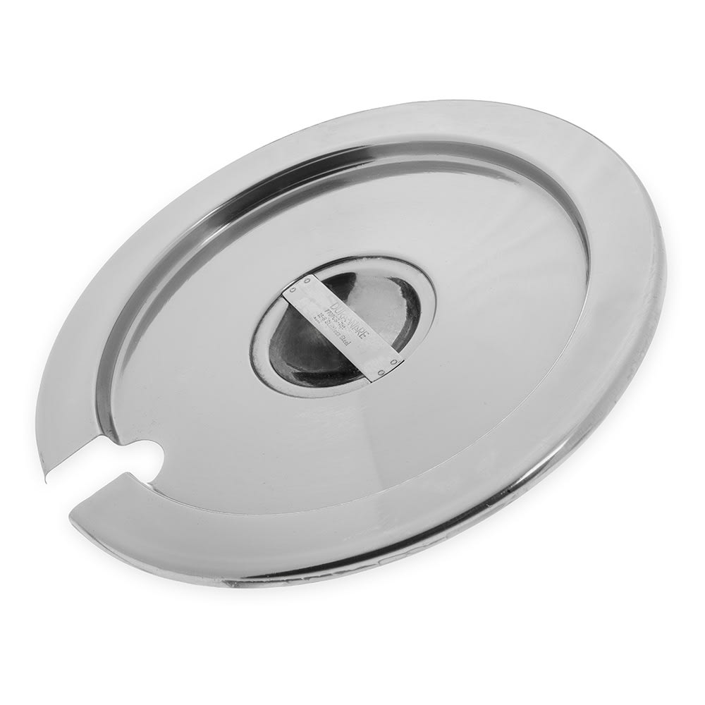 Carlisle 607707CS 7-qt Inset Cover - Notched Handle, Stainless